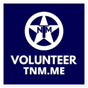 TNM Volunteer Stickers
