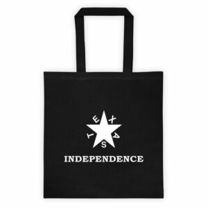 Texas Independence Canvas Tote