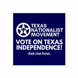 TNM Vote For Independence Sticker