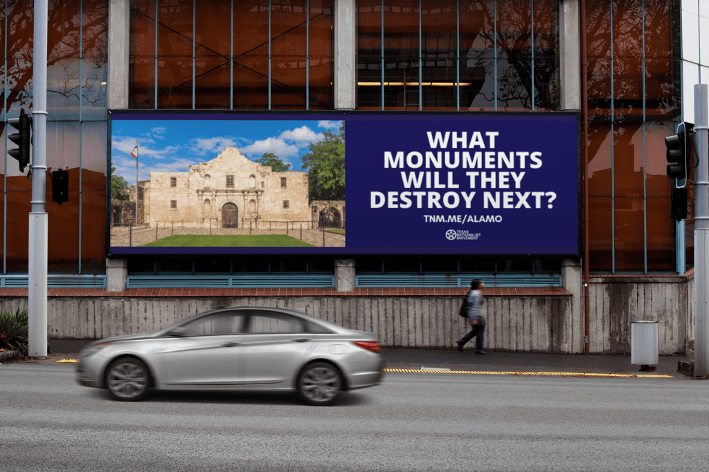 This Alamo billboard was deemed too controversial to post.