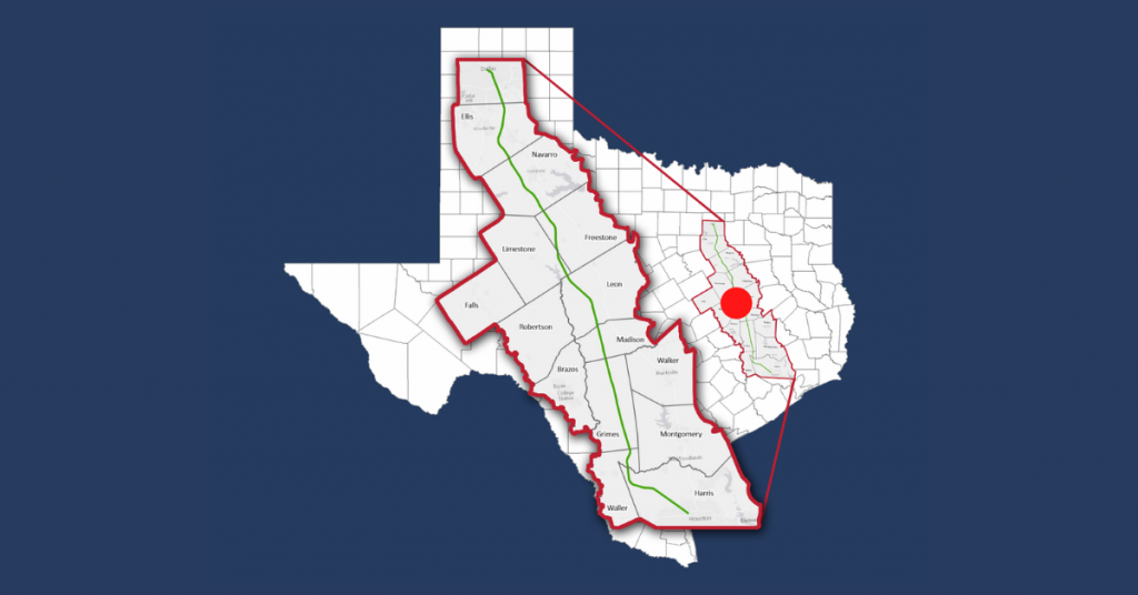 Texas High-Speed Rail proposed route